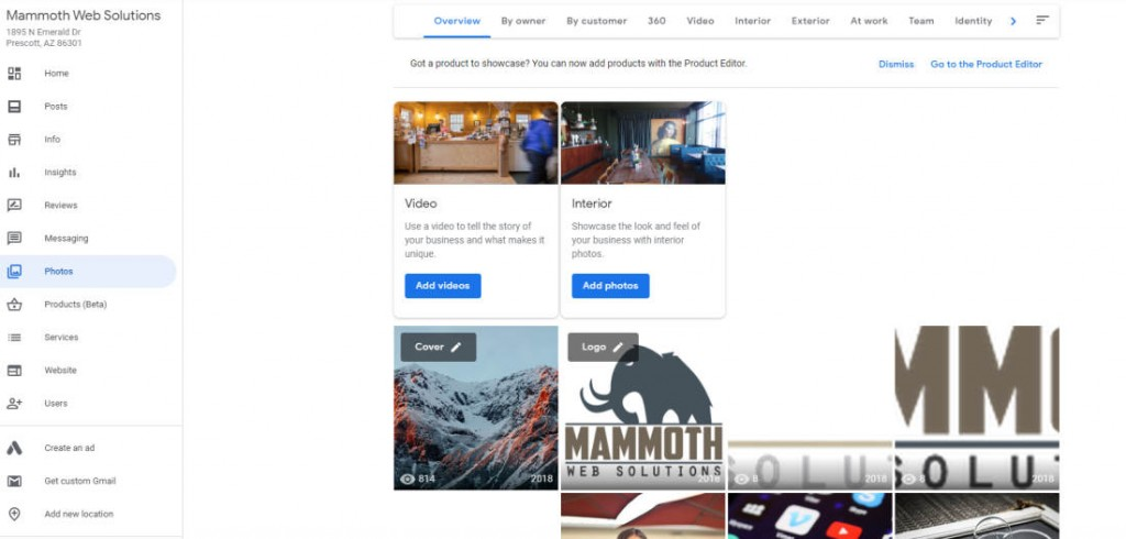 google my business images and photos